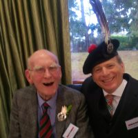 Clan Chief Sir William Macpherson age 91 and Richard McBain Tanist